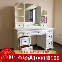 Dresser Bedroom simple modern small family stylish mini paint dressing table Economical retractable makeup table
