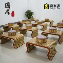 Kindergarten Chinese school desks and chairs antique Chinese Go table calligraphy table double childrens training desk