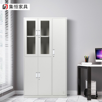 Five glass locker office school Iron 5 door Cabinet staff cabinet with lock storage cabinet storage wardrobe