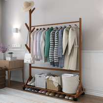 Hanger floor single-pole mobile coat rack simple hanger home clothes rack bedroom racks