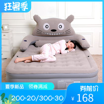 Manfuya Totoro inflatable mattress home single double thickening and high air bed large cartoon cute folding bed