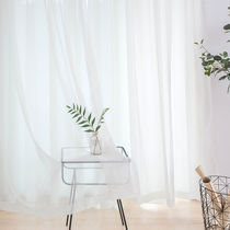 Window gauze curtain balcony yarn translucent living room finished curtains white sand semi-blackout bay window white yarn