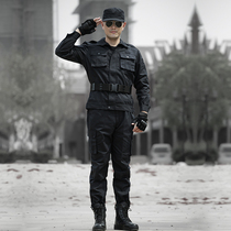 Summer black combat training service security training service grid Special Forces uniforms overalls camouflage suit male