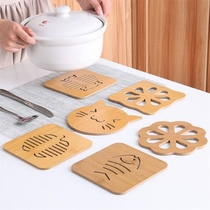 Household wooden insulated dining table mat anti-hot non-slip Cup pad Bowl pad plate warm kettle bottle casserole mat large