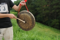 36 ~ 40CM open road gongs hand copy gongs Henan Anhui commonly used bronze gongs old Gong straight edge convex bottom gongs