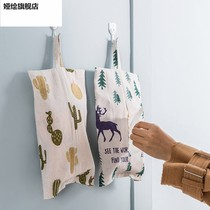 Cartoon cotton linen hanging paper towel set pumping paper bag bathroom kitchen living room paper towel package cute tissue box