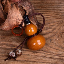 Boutique natural open small wine gourd beeswax impermeable mini snuff bottle portable bottle bottle car bag ornaments
