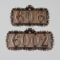 High-grade antique Hotel Villa residential residential district number metal bronze number plate digital stickers custom