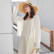 Linen sunscreen outside the cardigan female short paragraph take the harness jacket thin section Summer small shawl with skirt air conditioning shirt
