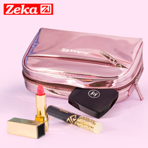 Cosmetic bag small portable large-capacity multi-functional product Network Red Girl heart travel portable lipstick pouch ins