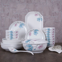 Tableware 33 skull porcelain dishes set Chinese simple household dishes ceramic dishes 4 people Jingdezhen porcelain