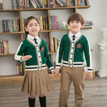 Kindergarten uniform school uniforms spring and autumn new children British style campus primary and secondary school students sports uniforms set custom