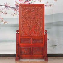 Dongyang wood carving solid wood floor screen antique living room hotel Office teahouse Partition Xuan Closed Seat screen screen