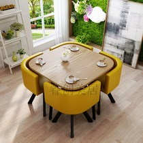 Just talk about tables and chairs combination business reception small size one table four chairs shop negotiate round table office reception tea