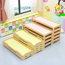 Kindergarten nap bed primary school students managed class bed baby lunch break small bed can be folded lunch care kindergarten folding bed