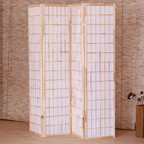 Chinese screen partition simple folding living room entrance wall mobile folding screen simple modern office solid wood screen
