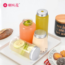 Flared dirty milk tea bottle disposable plastic cup sujiang Tai tea nai snow bottle fat fat juice cold bubble Cup