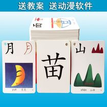 Literacy Card Preschool All-brain child memory enlightenment Word card kindergarten early education with figure 3-6 year old recognition