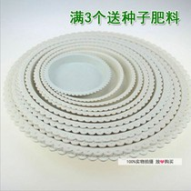 Flower Pot Tray white red round plastic tray plant disk potted tray water disk chassis base