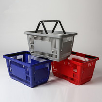 Thickened pulley trolley supermarket shopping basket bar portable folding KTV convenient basket business overbought food plastic baskets