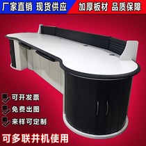 Triple fire board platform wood countertop operators station monitoring console monitoring cabinet dispatch desk desk