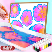 Wet extension painting floating painting set children watercolor paint graffiti non-toxic finger water extension painting set beginner manual