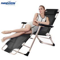 Speed folding chair recliner thickened square tube Teslin breathable lunch break nap chair bed outdoor bed Beach folding bed