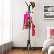 Simple bedroom coat rack floor hall clothes hanger bag rack modern fashion creative iron storage rack