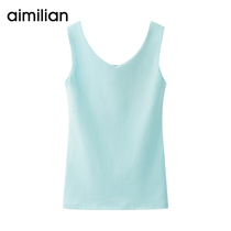 Amy Love V-neck camisole female short paragraph wear summer slim tight sleeveless cotton white jacket