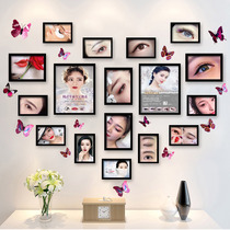 Eyebrow lip micro plastic background wall beauty salon decorations hanging painting mural manicure semi-permanent tattoo shop photo wall