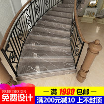 Quintana marble staircase stepping Brick 1 m glazed brick brown Jazz white one-piece Cascade tile anti-skid