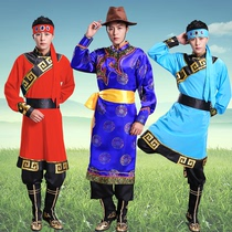 Mongolian clothing men Mongolian adult new modern Tibetan costumes dance ethnic minority mens clothing gowns