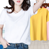 T-shirt ladies 2019 new tide summer short-sleeved shirt body 桖 loose bottoming shirt early autumn wild wear compassionate