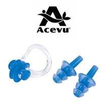Swimming snorkeling earplugs nose clip Set adult children General prevention choke soft silicone nose clip earplugs