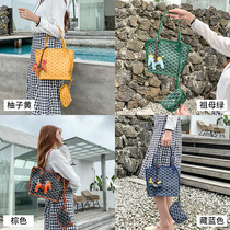 Korea Dongdaemun emo dog tooth bag large mini basket bag shoulder bag small bag small CK limited handbags