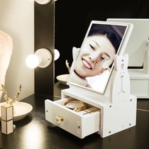 Kyrgyzstan expensive makeup mirror desktop simple large cartoon princess mirror zoom beauty mirror desk student dormitory dressing mirror