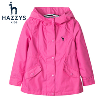 hazzys childrens clothing for girls windbreaker Spring Festival new in the Big child thin fashion windproof coat