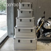 CooYoo cool friend aluminum magnesium alloy heavy outdoor equipment storage box car travel finishing storage box.