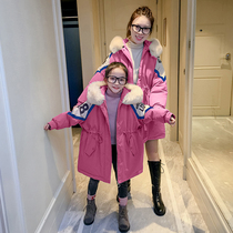 Parent-child pack Peking Service winter 2019 new mother and daughter installed a three-year foreign air cotton jacket