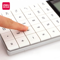 Effective calculator student with solar office business fashion female computer small portable small computer cute exam candy color accounting dedicated large key computer
