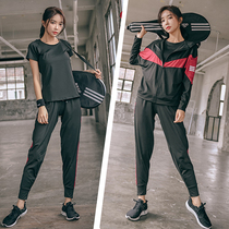 2020 new gym sports suit women loose large-yard running quick-drying Network red yoga suit beginner autumn winter