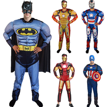 Festival show Avengers muscle Iron Man Batman Captain America cosplay vest costume