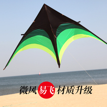 Weifang kite children grassland umbrella cloth kite breeze easy to fly triangle kite adult large new high-grade line wheel