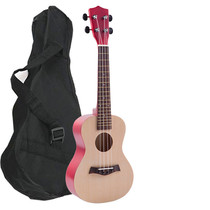 23-inch ukulele with backpack textbook string preparation paddles men and women small guitar to send Chinese textbook book