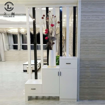 Paint entrance cabinet hollow partition cabinet door shoe cabinet Multi-Function Hall cabinet simple modern partition screen living room