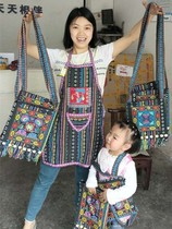 West Lanka PU Enshi features Tujia bag bag crafts shoulder bag with embroidery