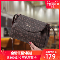 Bag female 2019 new Korean version of the cross-body bag personality Fashion Shoulder Bag autumn and winter explosion wild texture female bag tide