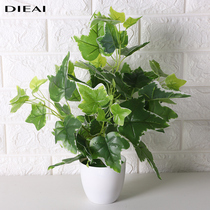Simulation green radish indoor desktop plant small potted decorative plastic flower office decoration fake green plant fake flower ornaments