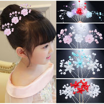 Girl child plate hairpin headdress handmade U-shaped clip hairpin hairpin hairpin hairpin flower
