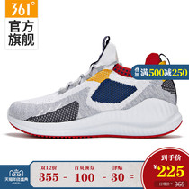 361 mens shoes sneakers 2019 Winter 361 Degrees woven shock absorption wear breathable mens comfortable casual running shoes